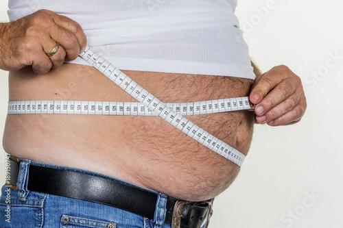 Leinwanddruck Bild man with overweight