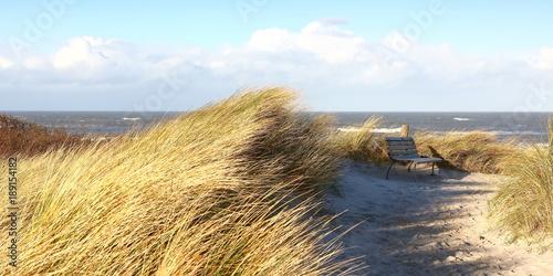 In de dag Noordzee Strandübergang zur Nordsee