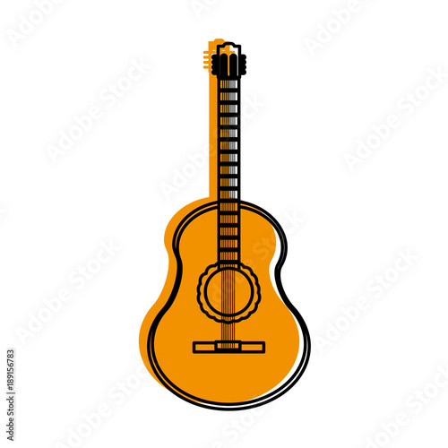 Fototapeta Isolated guitar design