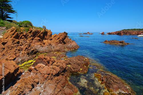 rocky beach on the sea