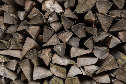 Foto op Canvas Brandhout textuur fire wood