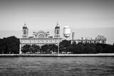 Ellis island in New York City, black and white - 189164377