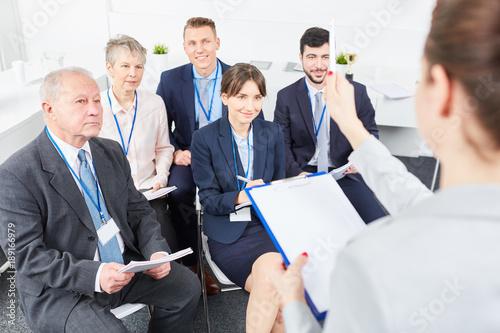 Workshop Schulung Seminar von Business Gruppe