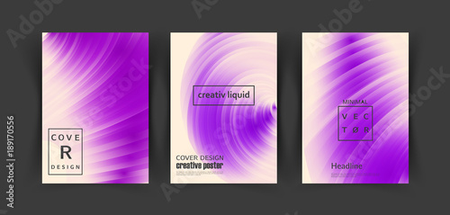 Ultraviolet modny szablon projektu okładki. Wektor płynny wzór tła.