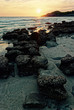 Sunset on the rock beach. Beautiful in the nature. - 189174306