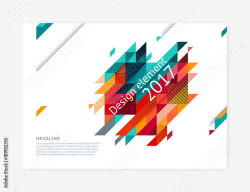 Minimalistic cover design template, creative concept, modern diagonal abstract background