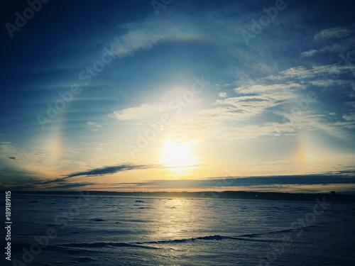 Foto Murales soleil en hiver
