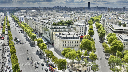 Tuinposter Parijs Champs Elysées