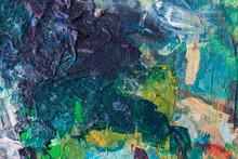 "Постер, картина, фотообои ""close up of colorful painting"""