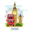 London concept with landmarks symbol.