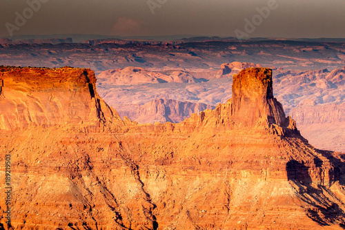 Foto op Plexiglas Oranje eclat View of canyons and rock formations in southwest Utah