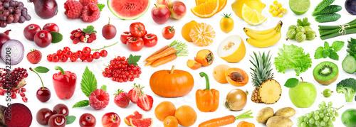 Foto op Canvas Verse groenten Fruits and vegetables