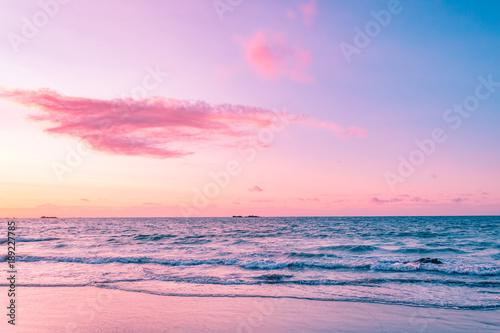 Deurstickers Lichtroze Sunset lovers
