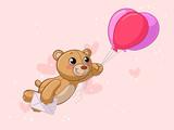 Fliegender Comic Teddybär