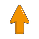 arrow up isolated icon - 189262146