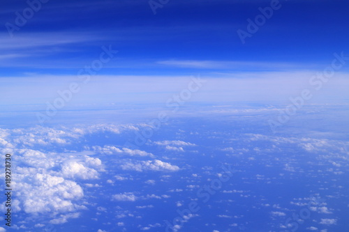 Foto op Canvas Donkerblauw 幻想的な天空の世界