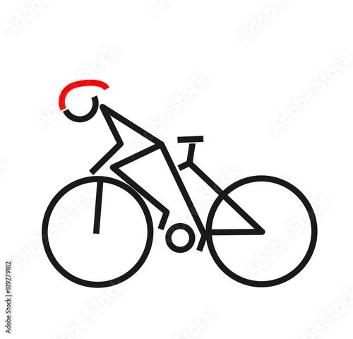Ride bicycle design symbol. vector illustration.