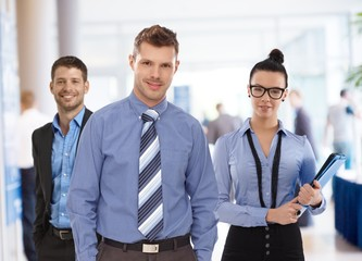 Portrait of young businesspeople at office