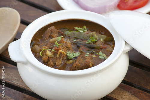 Foto Murales Chettinad mutton curry is a famous, spicy flavorful curry absolutely delicious curry.
