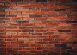 Red brick wall texture grunge background may use to interior design - 189305191