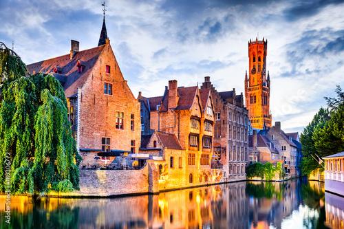 Fotobehang Brugge Belfry, Bruges, Belgium