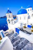 Oia, Santorini, Greece - Blue church Aegean Sea