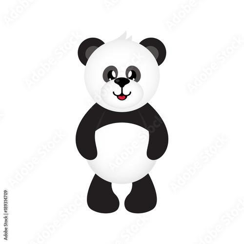 Fototapeta cartoon cute panda