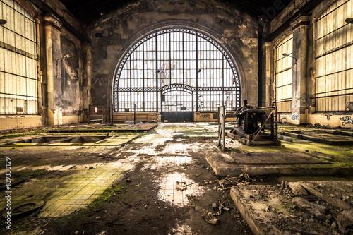 Foto Spatwand Oude verlaten gebouwen Zeche - Lost Place
