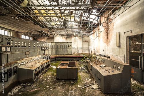Foto op Canvas Oude verlaten gebouwen Zeche - Lost Place