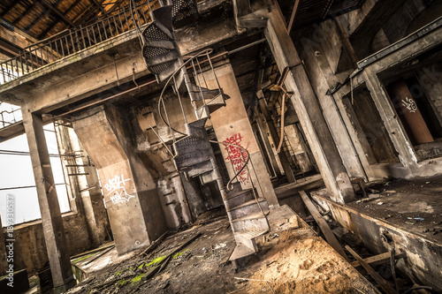 Fotobehang Oude verlaten gebouwen Zeche - Lost Place