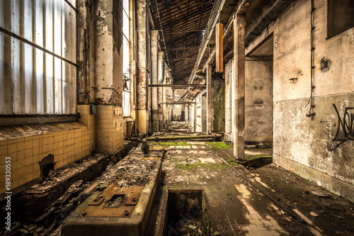 Foto op Canvas Smal steegje Zeche - Lost Place