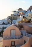 villaggio di Oia al tramonto - isola di Santorini, Grecia - 189341388