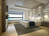 3d render of luxury hotel bedroom - 189341937