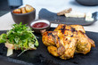 Fresh chicken with vegetables and mash potatoes - 189355508