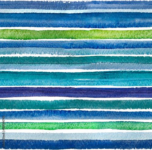Materiał do szycia Tle akwarela. 2D ręcznie rysowane wzór kolorowe paski, kropki i fale. Turkusowy niebieski ornament. Na białym tle na białym tle