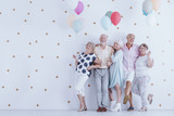 Older people with balloons - 189368735
