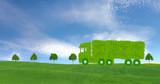 ecological truck concept, ecological transport concept - 189373399