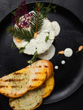 gourmet restaurant pate meal recipe concept. food photography. culinary art.