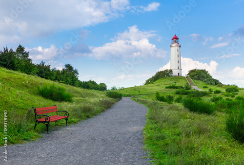 Lighthouse on the island Hiddensee in the Baltic Sea, Germany Poster