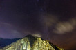 Mountains and starry sky - 189387564