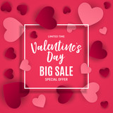 Valentine s Day Love and Feelings Sale Background Design. Vector illustration - 189391728
