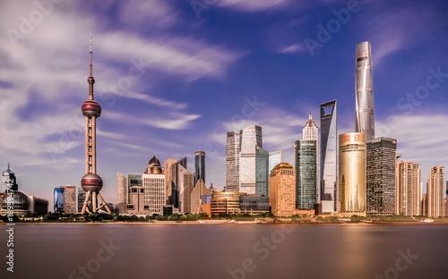 Foto op Canvas Shanghai Skyline von Shanghai am Tag