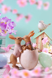 easter decoration in pastel colors - 189411560