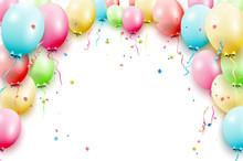 Birthday Balloons Template Sticker