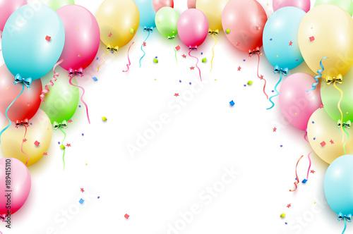 Szablon balony urodziny