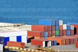 Cargo container in port - 189417513