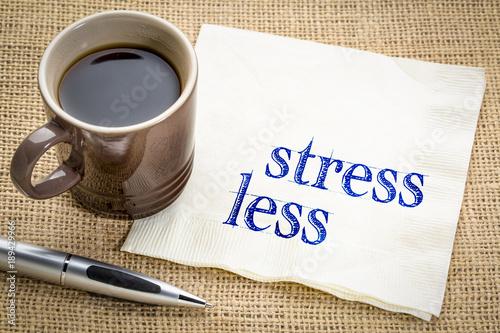 stress less advice on napkin