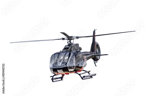 Fototapeta Front view helicopter isolated