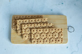 The cracker, dry bread on a wooden Board, Diet