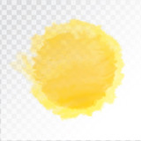 Fototapety Vector yellow watercolor sun, isolated on transparent background. Illustration.